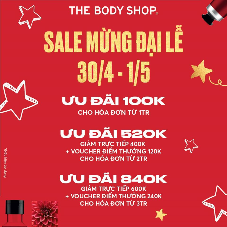 THE BODY SHOP SALE MỪNG ĐẠI LỄ