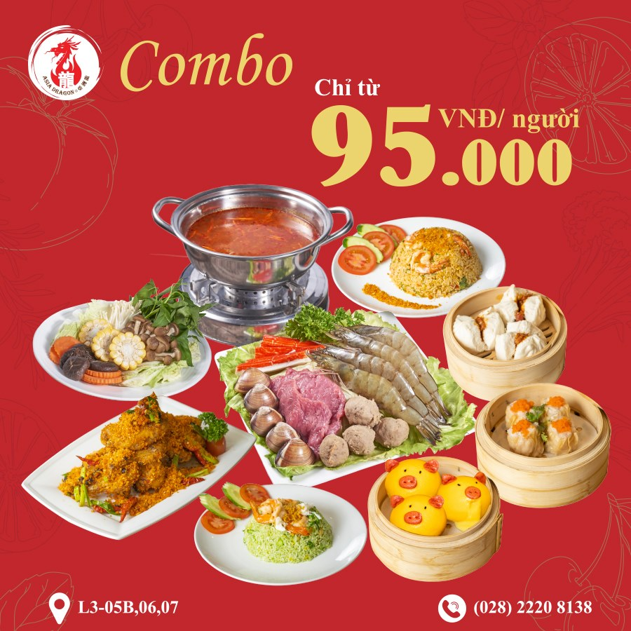 COMBO ONLY FROM 95K - ENJOY CANTONESE CUISINE FLAVOR