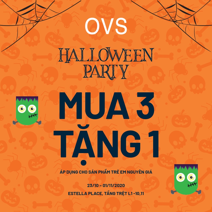 OVS HALLOWEEN PARTY - BUY 3 GET 1 FREE KID ITEMS