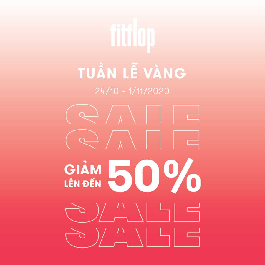 GOLDEN WEEK SPECIAL DISCOUNT - FITFLOP OFFERS UP TO 50% OFF