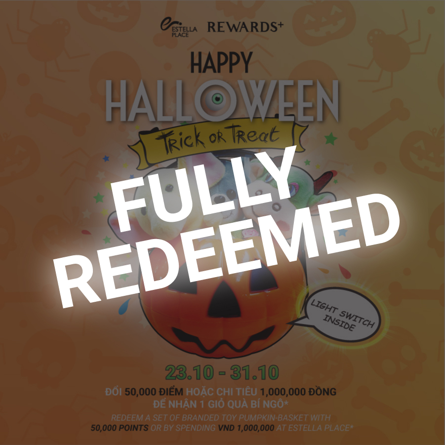 ENDING OF HALLOWEEN PROMOTION