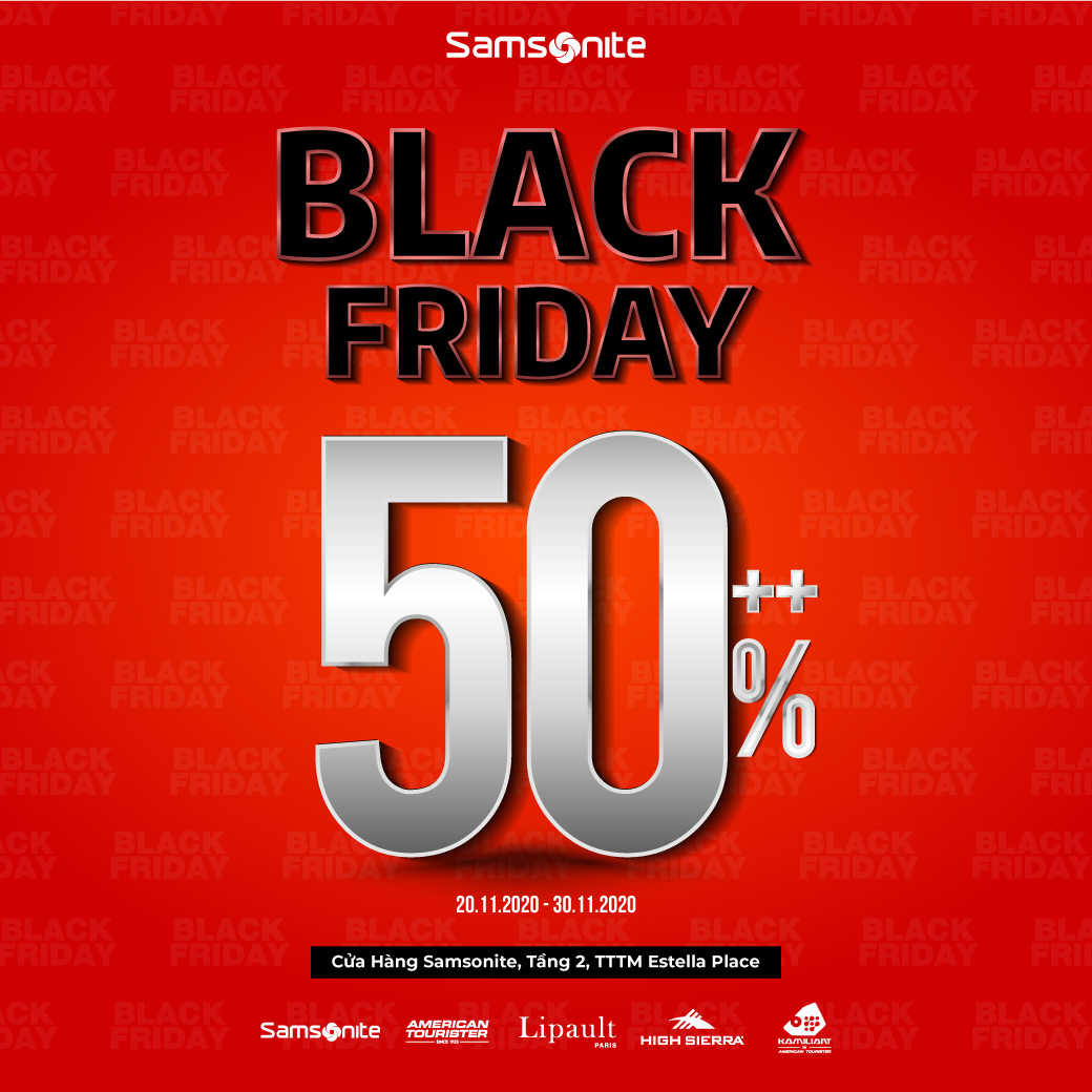 SAMSONITE BLACK FRIDAY - DISCOUNT 50% ALL ITEMS