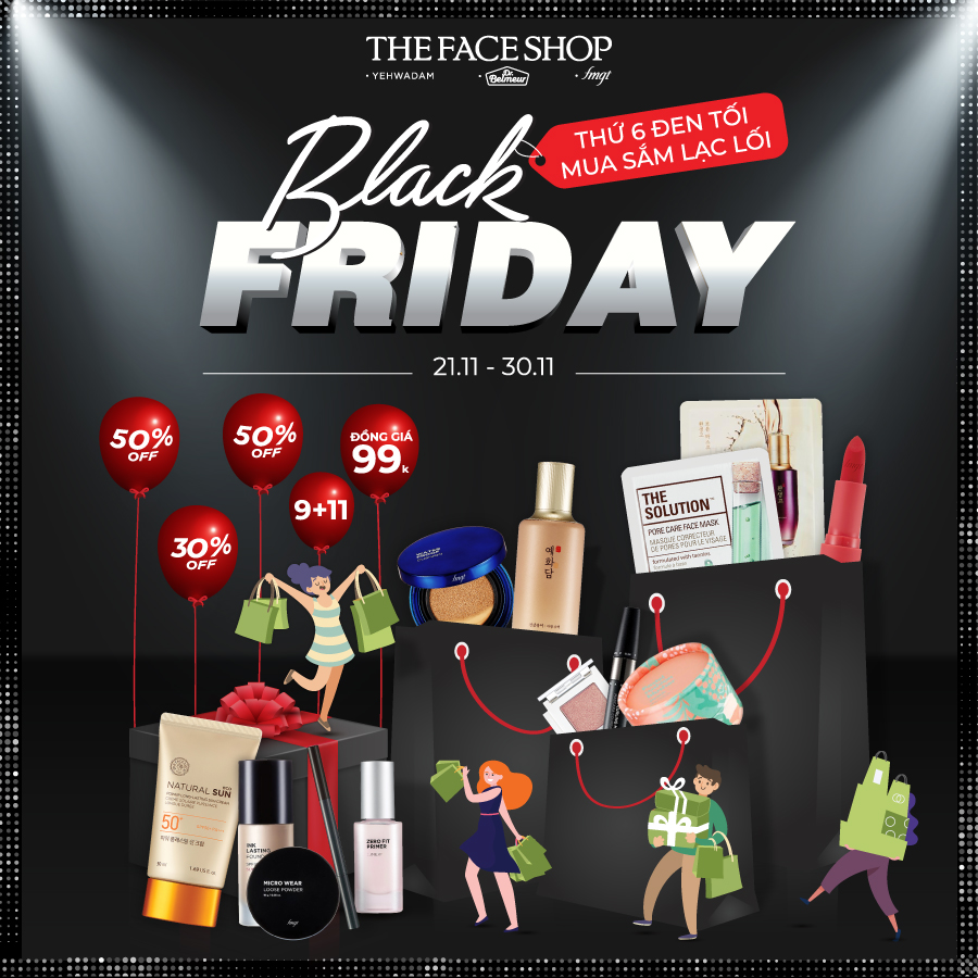 BLACK FRIDAY – SĂN HOT DEAL CÙNG THEFACESHOP