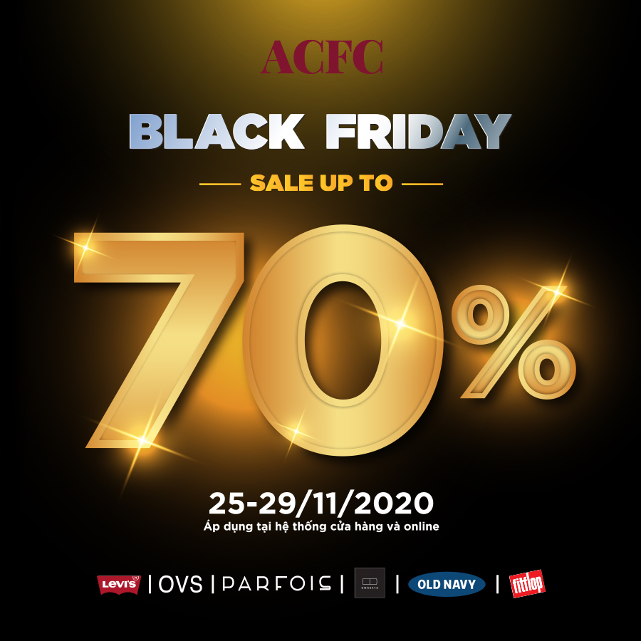 BLACK FRIDAY ACFC BRANDS SALE UP TO 70%