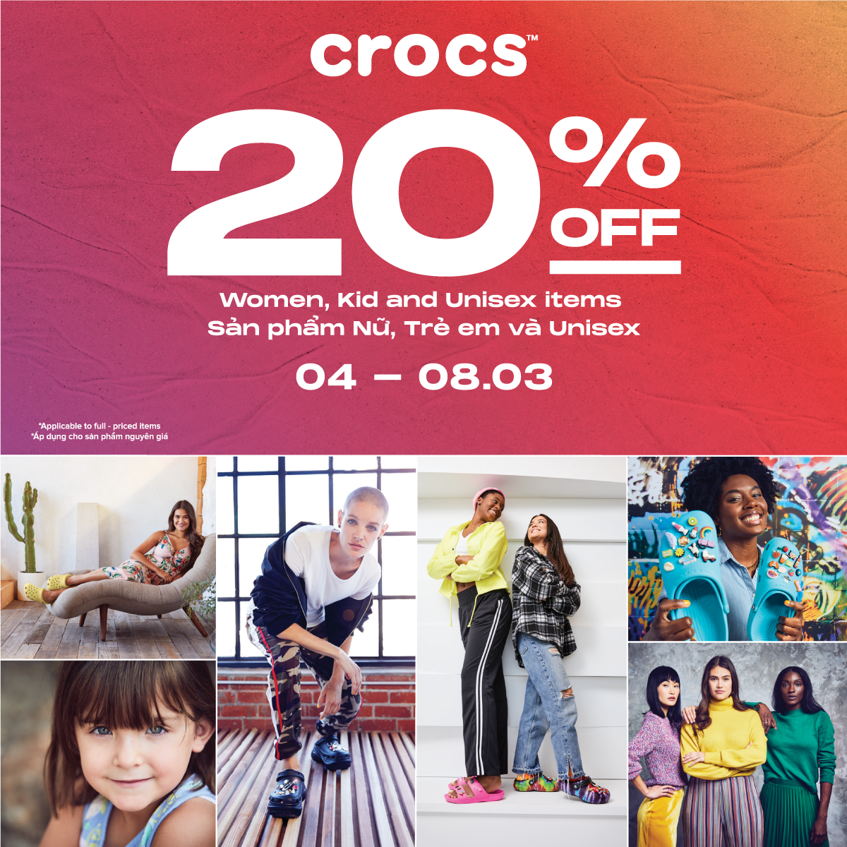 HAPPY WOMEN'S DAY WITH CROCS ♥️