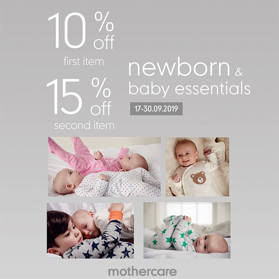 HOT DEAL - CLOTHING FOR NEWBORN & BABY ESSENTIALS AT MOTHERCARE ESTELLA PLACE