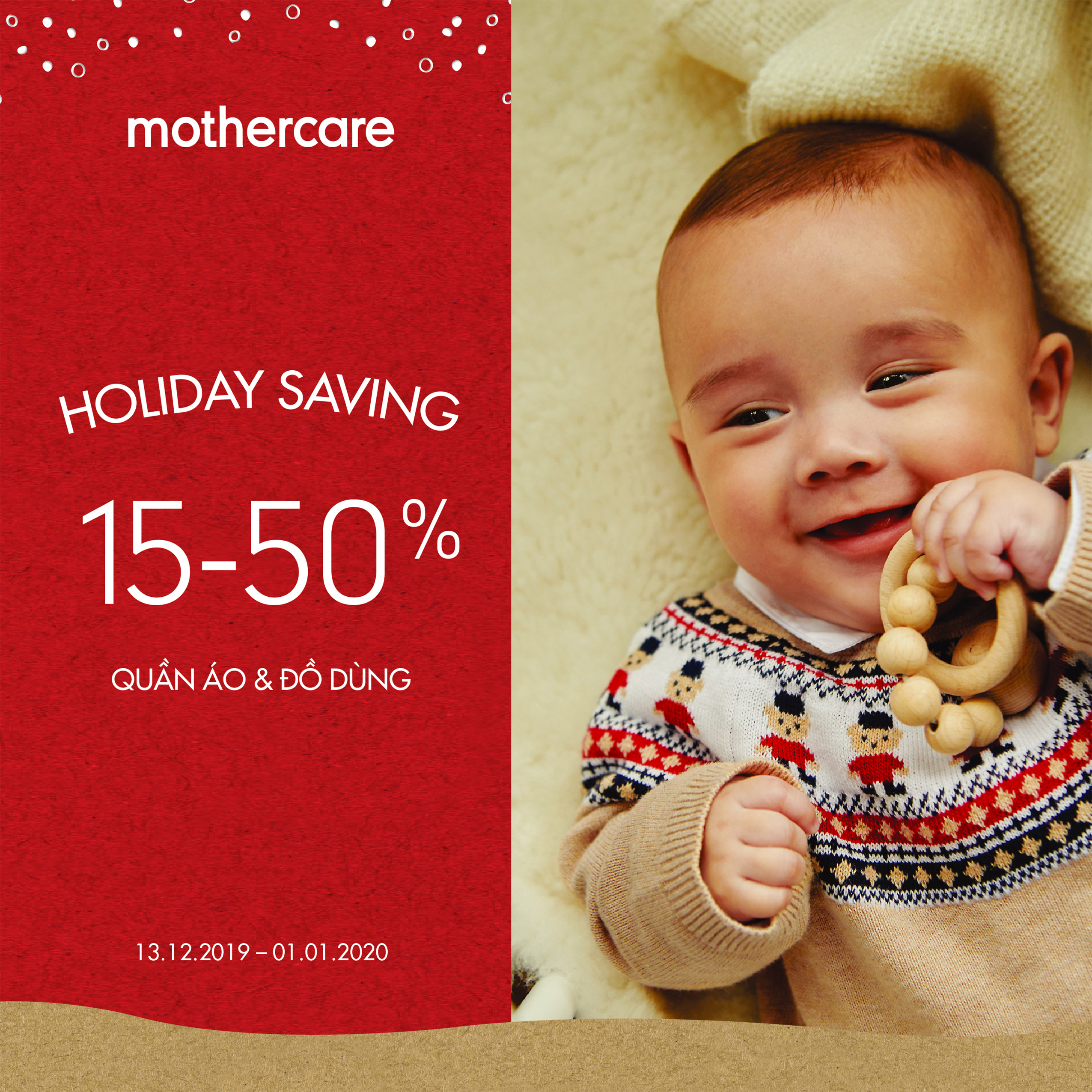 MOTHERCARE - MERRY CHRISTMAS & HAPPY NEW YEAR WITH HOLIDAY SAVING