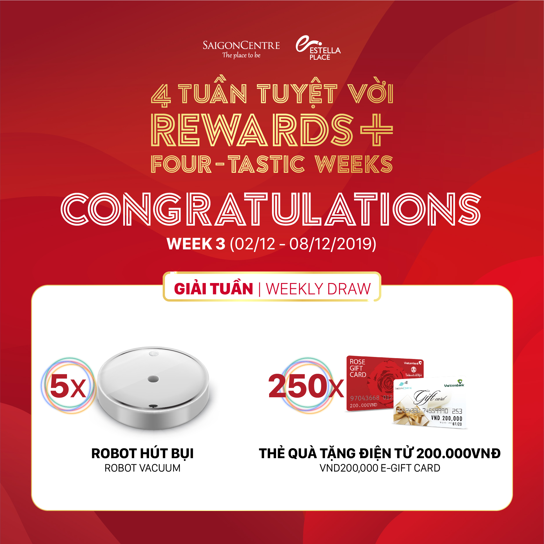 📣 REWARDS+ FOUR-TASTIC PROMOTION – WEEK 3 WINNERS