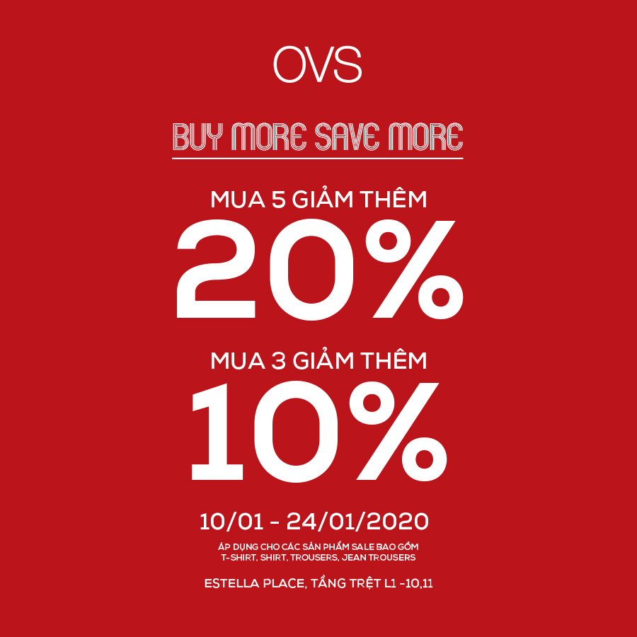 ⚡BUY MORE SAVE MORE - ENJOY YOUR SPECIAL OFFER AT OVS⚡