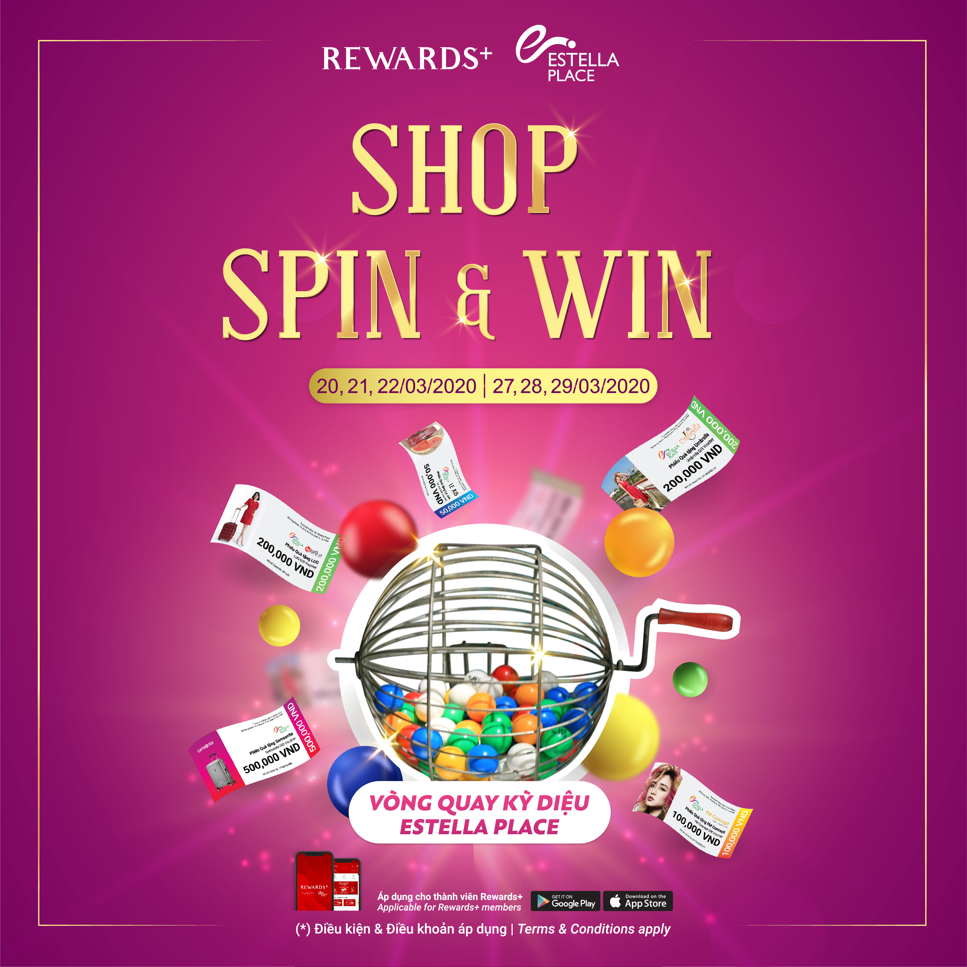 SHOP, SPIN & WIN AT ESTELLA PLACE